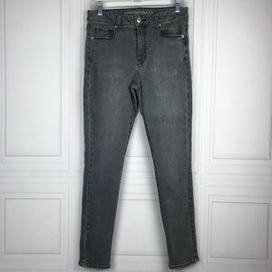 American Eagle 🦅 Gray Skinny Stretch Jeans Sz 8